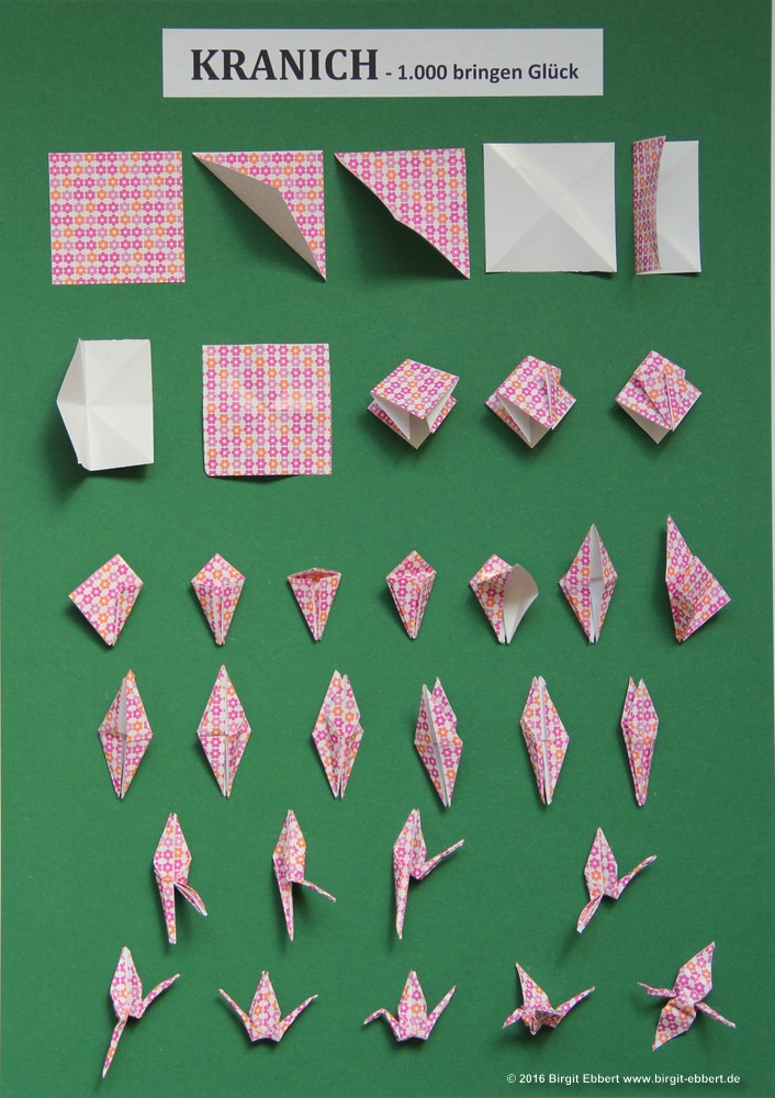 1000 Kraniche Falten Papierzen